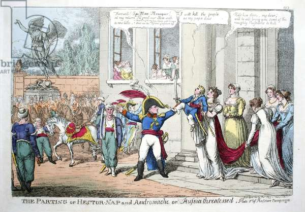 British political cartoon satire of Napoleon Bonaparte