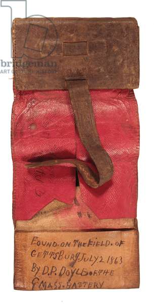 Leather wallet found on the Gettysburg battlefield