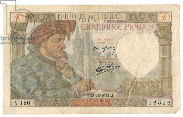 ,Nazi Germany- French Currency Under German Occupation