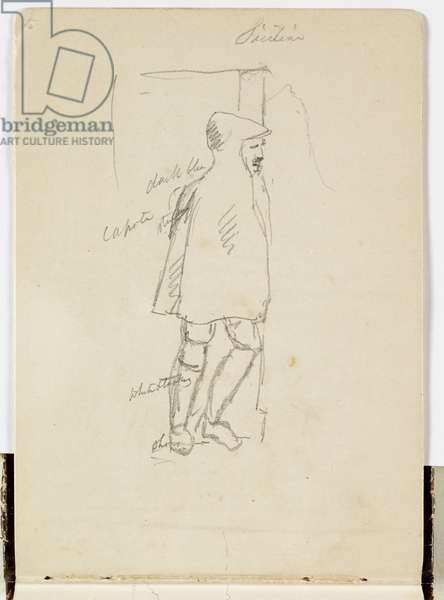 Sicilian, 1842 (pencil on paper)