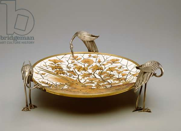 Coupe, c.1878 (silvered brass, marquetry of ivory, copper alloy & wood)