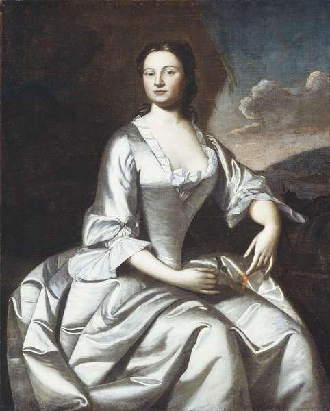 Hermione Pelham Banister (Mrs. John Banister) 1748 (oil on canvas)