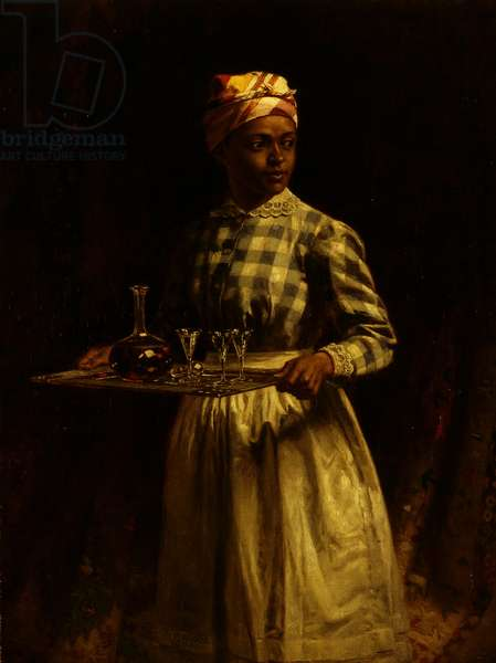 Serving Maid, 1890 (oil on canvas)