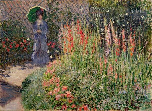 Rounded Flower Bed (Corbeille de fleurs), 1876 (oil on canvas)