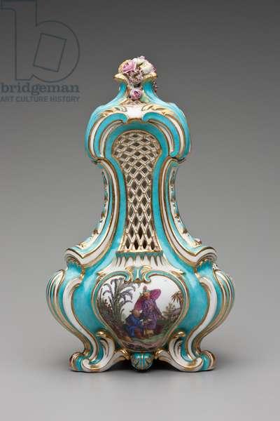 A Triangular Pot-pourri Vase, 1761 (soft-paste porcelain)