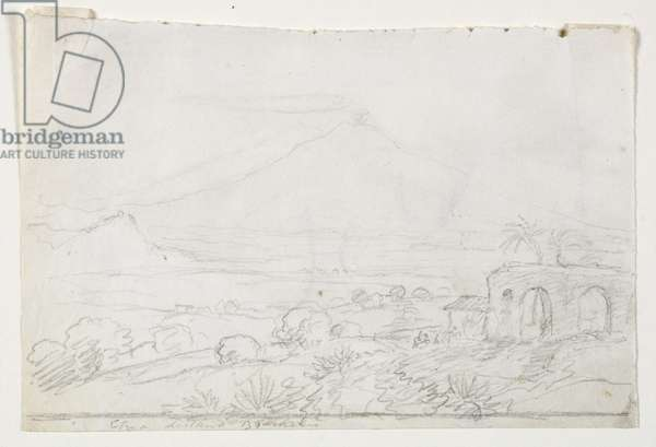 Aetna from a Distance of Thirty Miles, 1842 (pencil on paper)