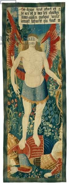Eros Triumphant, 1500-20 (wool & silk)