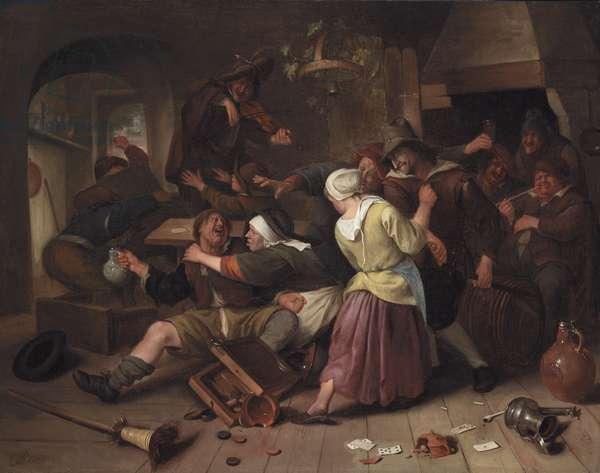 Gamblers Quarreling, c.1665 (oil on canvas)