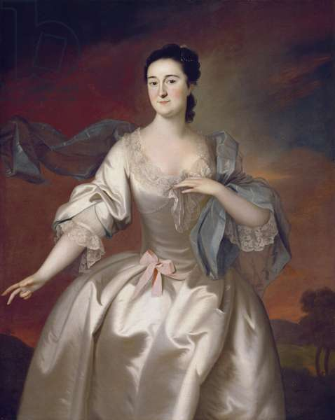Mrs James Pitts, 1757 (oil on canvas)