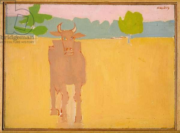 Cow, 1955 (oil on board)