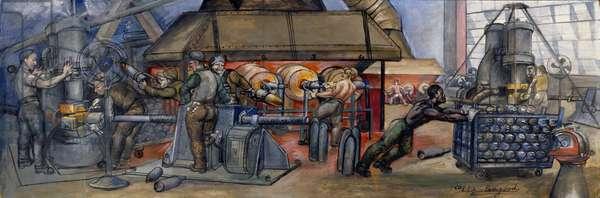 Steelworkers (gouache & casein on board)