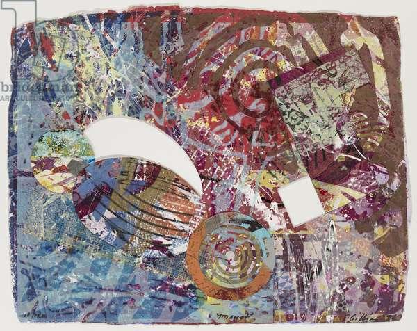 Manet, 1998 (mixed media monoprint)