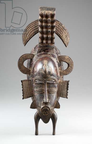 Kpelie Mask, 1875-1900 (wood)