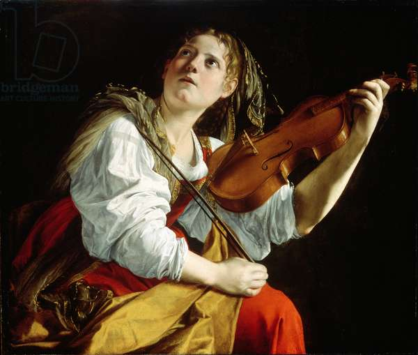 Young Woman with a Violin, c.1612 (oil on canvas)
