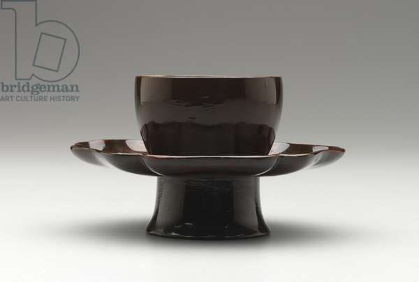 Tea Bowl Stand, Southern Song Dynasty, 1127-1279 (brown-black lacquer)