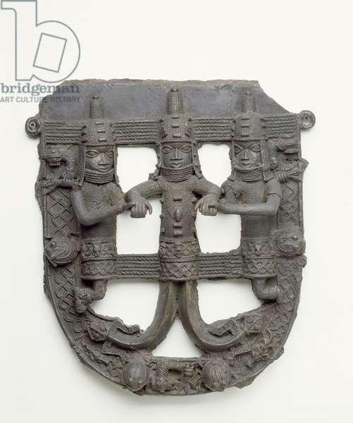 Semi-circular Plaque, 1500-1897 (brass)