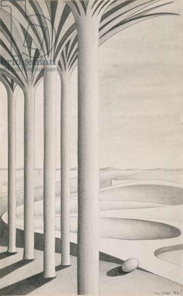 Untitled, 1943 (wash & graphite on paper)