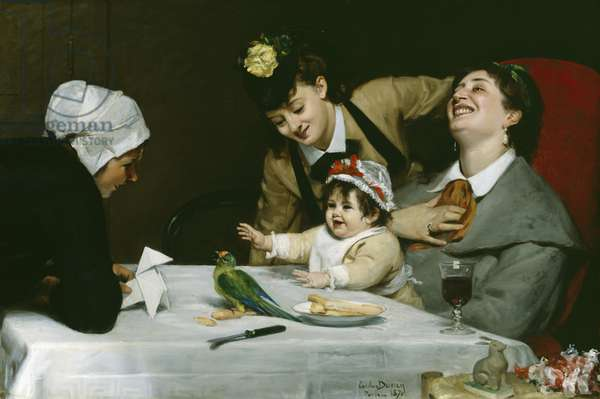 Merrymakers, 1870 (oil on canvas)