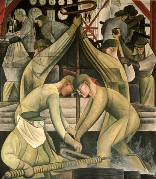 Detroit Industry, south wall, 1932-33 (fresco) (detail)