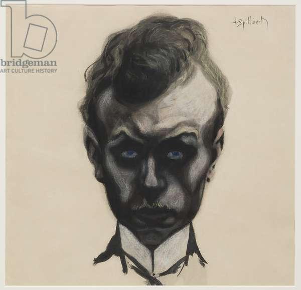 Self Portrait, c.1903 (brush & black ink and pastel on cream wove paper)