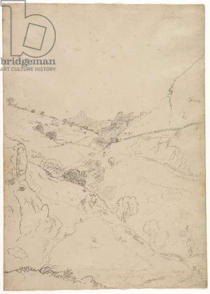 Calatafimi, Sicily, 1842 (pencil on paper)