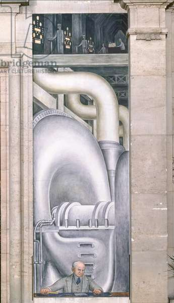 Detroit Industry, west wall, 1932-33 (fresco) (detail)