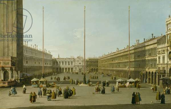 The Piazza San Marco, c.1738-40 (oil on canvas)