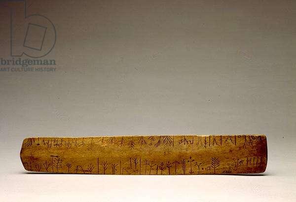 Prescription Stick, Potawatomi, Native American, c.1860 (carved wood)