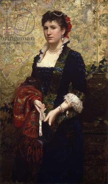 Princess Marie Lubomirska, 1881 (oil on canvas)