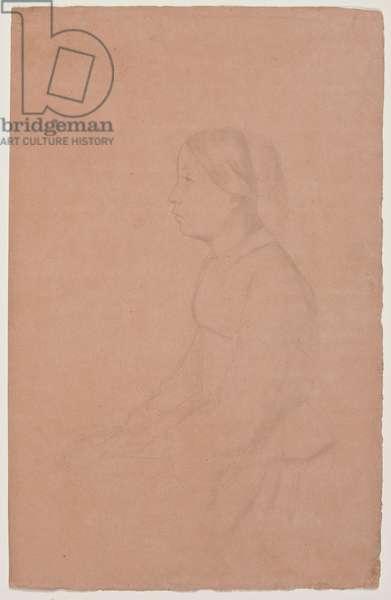 Marguerite de Gas, 1853/54 (graphite pencil on coral wove paper)