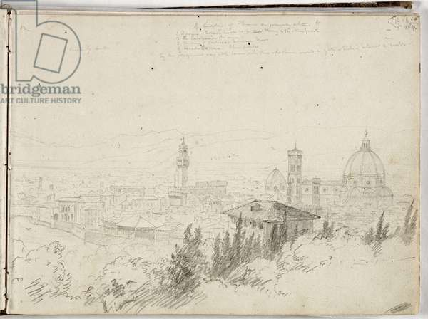 Panorama of Florence, c.1831 (pencil on paper)