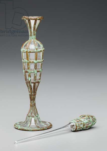 Roman Bottle #6, 1983 (electroplated glass)