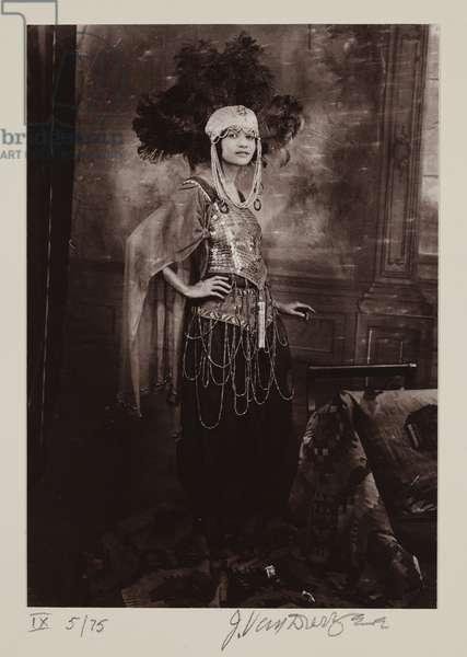 Untitled (Woman in Costume), 1924, reprinted 1974 (gelatin silver print)