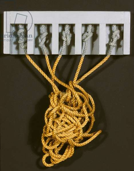 Untitled (Knots), 1963 (wood & rope)
