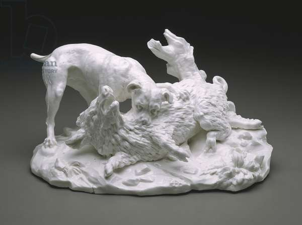 The Boar Hunt, c.1751 (soft-paste porcelain)