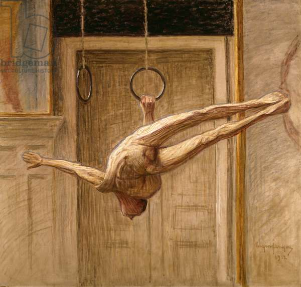 Ring Gymnast No.2, 1912 (oil on canvas)