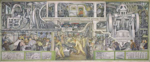 South Wall of a Mural depicting Detroit Industry, 1932-33 (fresco)