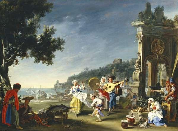 Tarantella at Mergellina, c.1750 (oil on canvas)