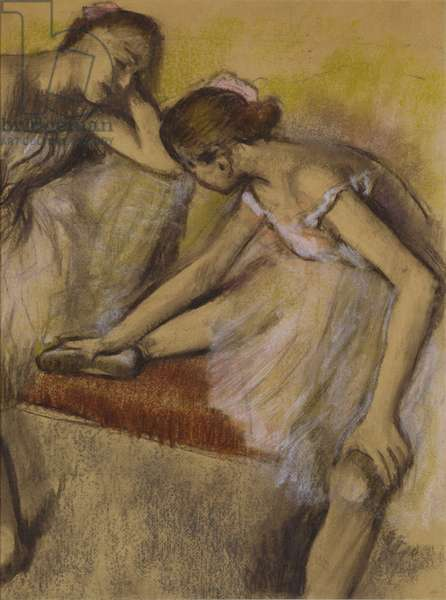 Dancers in Repose, c.1898 (pastel & charcoal on wove paper)