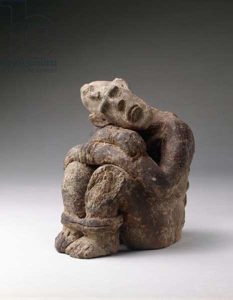 Seated Prisoner (terracotta)