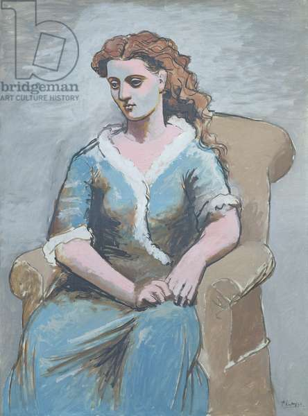 Woman Seated in an Armchair, 1923 (oil on canvas)