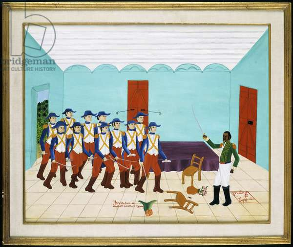 Arrest of Toussaint L'Ouverture, 7th June 1882, 1971 (oil on masonite)