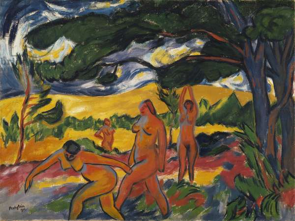 Under the Trees, 1911 (oil on canvas)