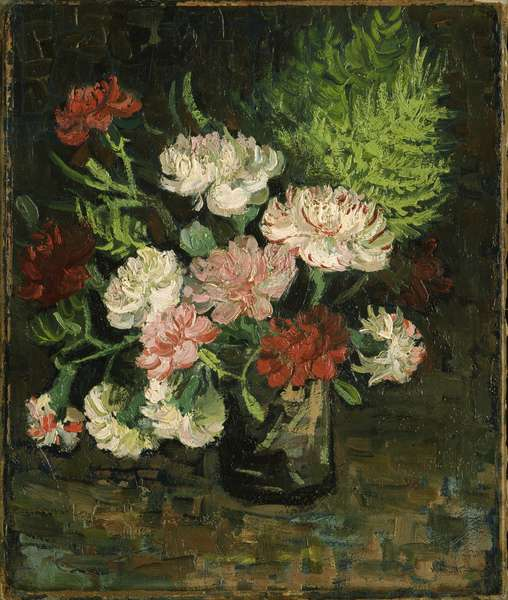 Still life with Carnations, 1886 (oil on canvas)