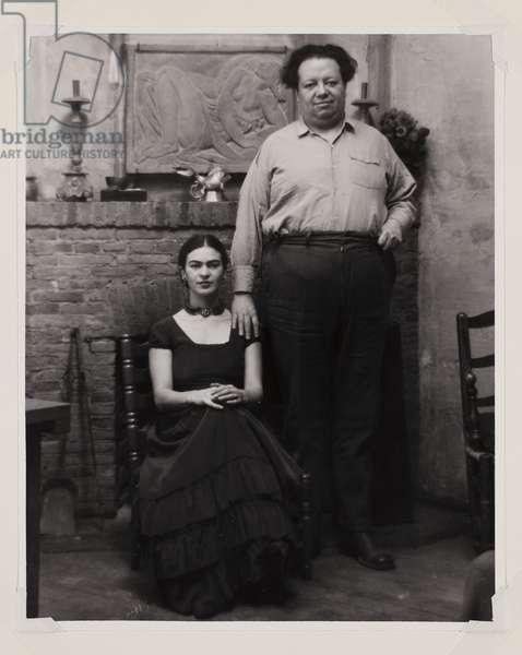 Frida Kahlo and Diego Rivera, 1931 (gelatin silver print)