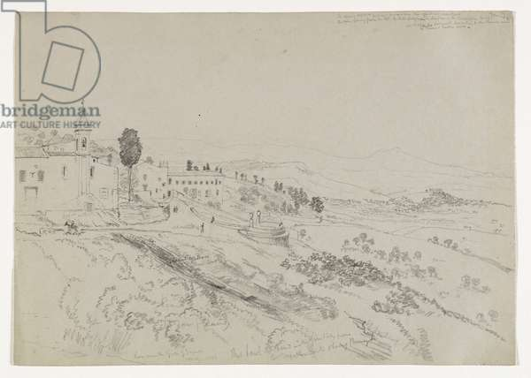 From the Gate of Girgenti, Sicily, 1842 (pencil on paper)