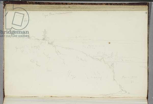 General Brock's Monument, Queenston, Ontario, 1829 (graphite pencil on off-white wove paper)
