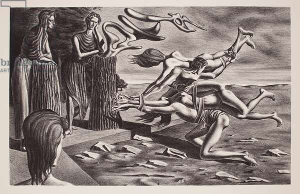 The Gordian Knot, 1936 (litho printed in black ink on wove paper)
