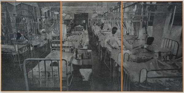 Hospital Ward, between 1968 and 1969 (acrylic on celotex)