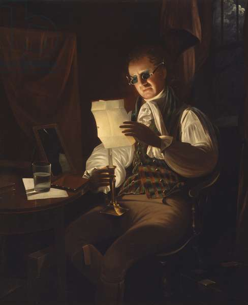 Man Reading by Candlelight, 1805-08 (oil on canvas)